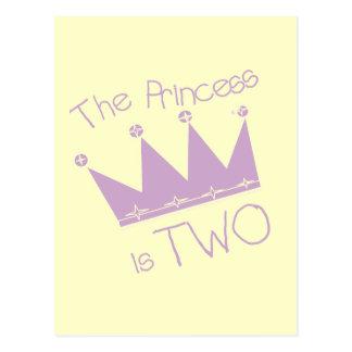 Princess Crown 2nd Birthday Tshirts and Gifts Postcard