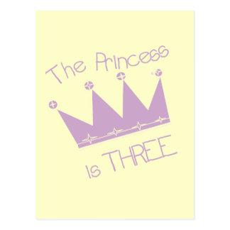 Princess Crown 3rd Birthday Tshirts and Gifts Postcard