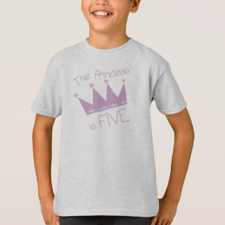 Princess Crown 5th Birthday T-Shirt