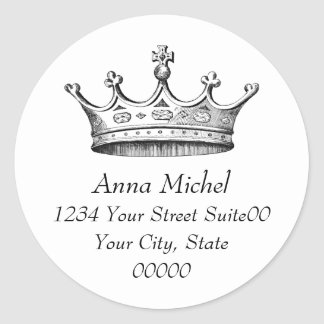 Princess Crown Address Sticker