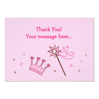 Princess Crown Custom Flat Thank You Note Cards