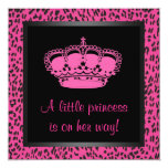 Princess Crown Hot Pink Leopard Baby Girl Shower