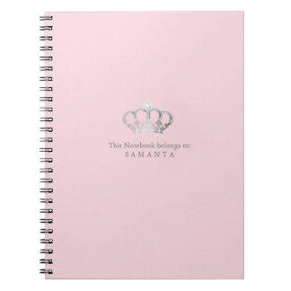 Princess crown ı pink notebook