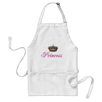 Princess crown in hot pink adult apron