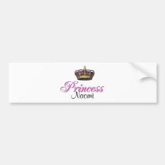 Princess crown in hot pink bumper sticker