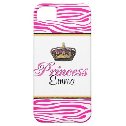 Princess crown in hot pink iPhone 5 cases