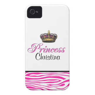 Princess crown in hot pink Case-Mate iPhone 4 case