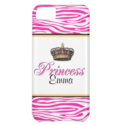 Princess crown in hot pink iPhone 5C cover