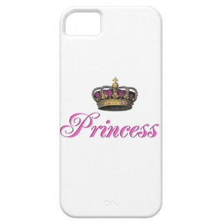 Princess crown in hot pink case for the iPhone 5