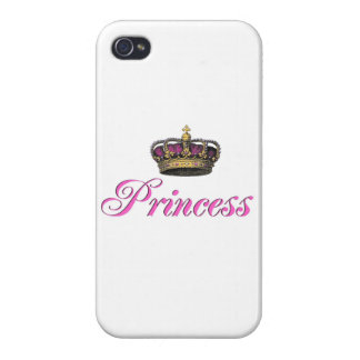 Princess crown in hot pink covers for iPhone 4