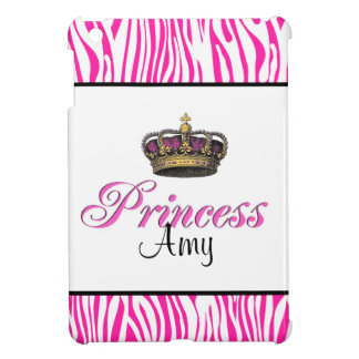 Princess crown in hot pink iPad mini cases