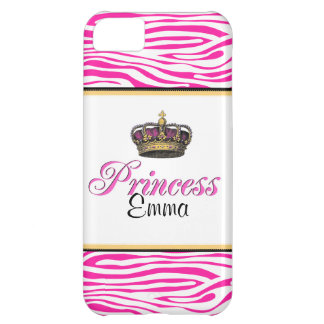 Princess crown in hot pink iPhone 5C case