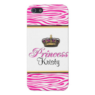 Princess crown in hot pink iPhone 5 case