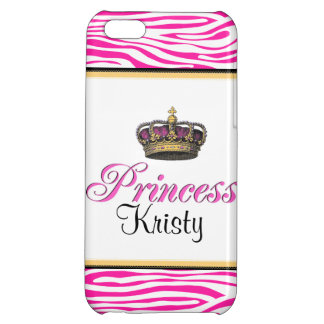 Princess crown in hot pink cover for iPhone 5C