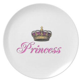 Princess crown in hot pink plate