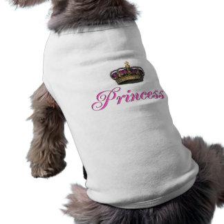 Princess crown in hot pink shirt