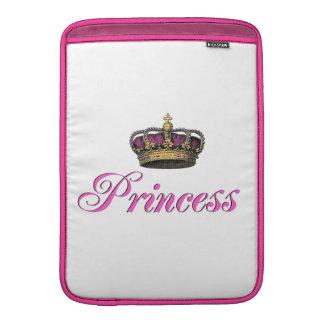 Princess crown in hot pink sleeve for MacBook air