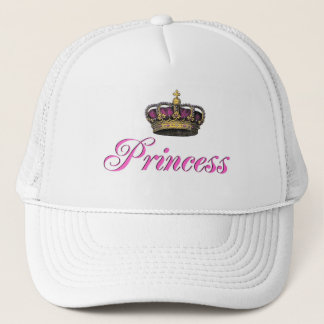 Princess crown in hot pink trucker hat