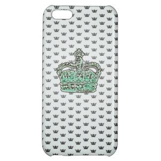 Princess Crown Iphone Case - Aqua green iPhone 5C Cover