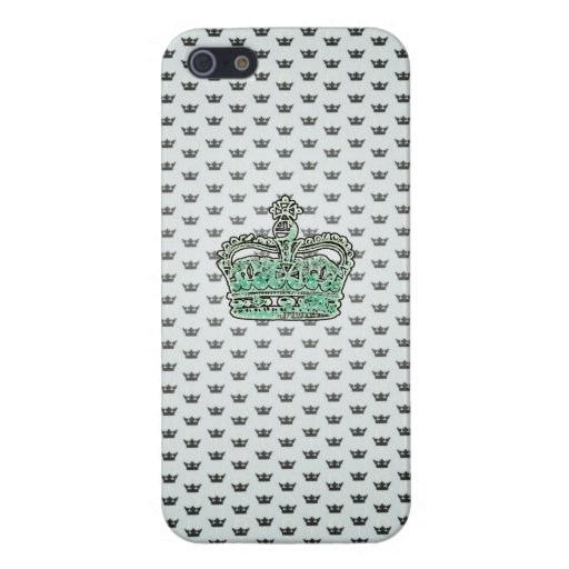 Princess Crown Iphone Case - Aqua green Cover For iPhone 5