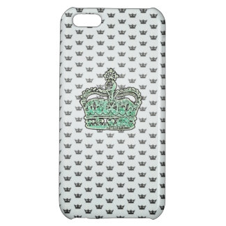 Princess Crown Iphone Case - Aqua green iPhone 5C Case