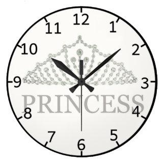 Princess Crown Large Clock