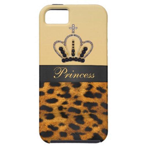 Princess Crown Leopard Fur Photo iPhone 5 Case