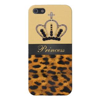 Princess Crown Leopard Fur Photo Case For iPhone 5/5S