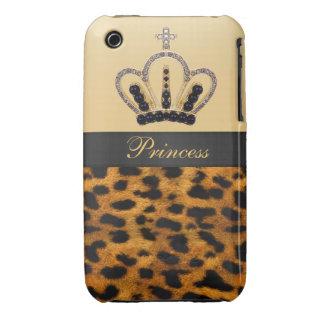 Princess Crown Leopard Fur Photo iPhone 3 Cover