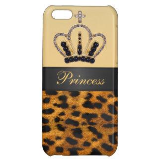 Princess Crown Leopard Fur Photo iPhone 5C Cases