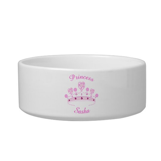 Princess Crown Personalised Bowl