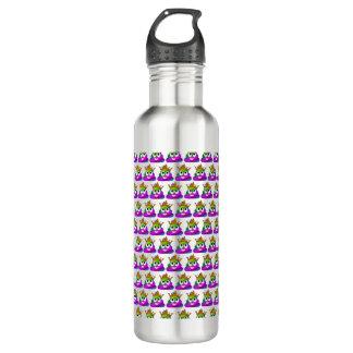 Princess Crown Rainbow Emoji Poop 710 Ml Water Bottle