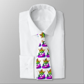 Princess Crown Rainbow Emoji Poop Tie