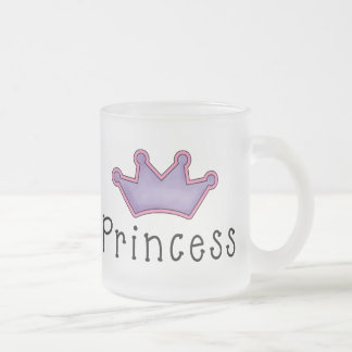 Princess Crown Tees and Gifts Frosted Glass Coffee Mug