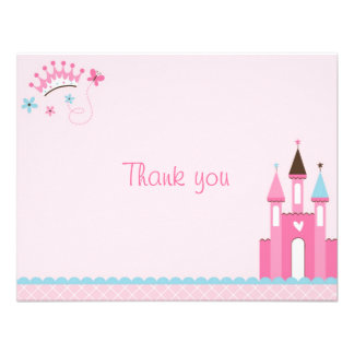 Princess Crown Tiara Thank You Note Cards Personalized Announcement
