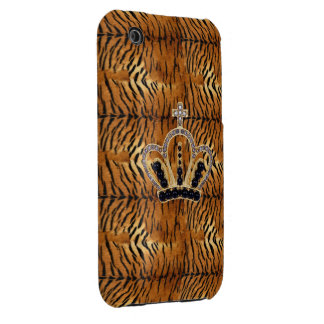 Princess Crown Tiger Fur iPhone 3G Case iPhone 3 Covers