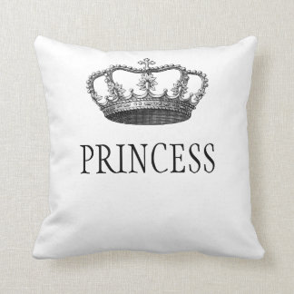 Princess Crown White custom cushion, pillow