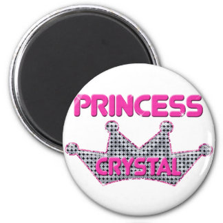 Princess Crystal 6 Cm Round Magnet