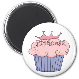 Princess Cupcake 6 Cm Round Magnet