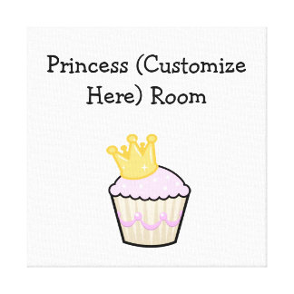 Princess Cupcake Stretched Canvas Print