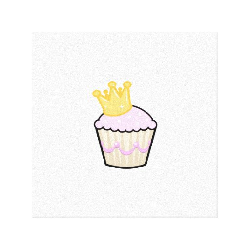 Princess Cupcake Gallery Wrapped Canvas