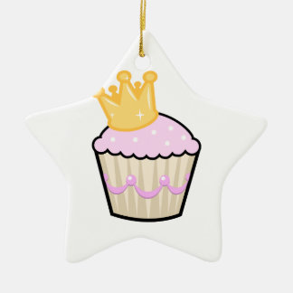 Princess Cupcake Ceramic Star Decoration
