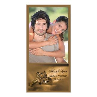 Princess Cut Diamond Ring Wedding Thank You Photo Photo Cards