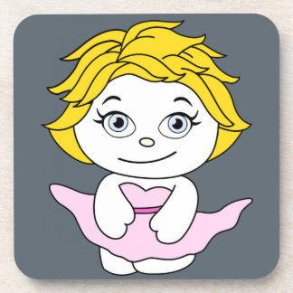 Princess Dancing Cartoon Monroe Beverage Coaster