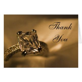 Princess Diamond Bridesmaid Thank You Card