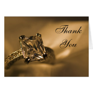 Princess Diamond Bridesmaid Thank You Note Card