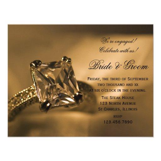 Princess Diamond Engagement Party Invitation
