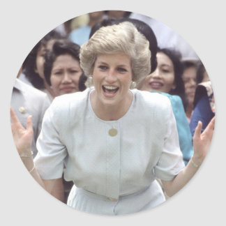 Princess Diana At Last! Round Sticker