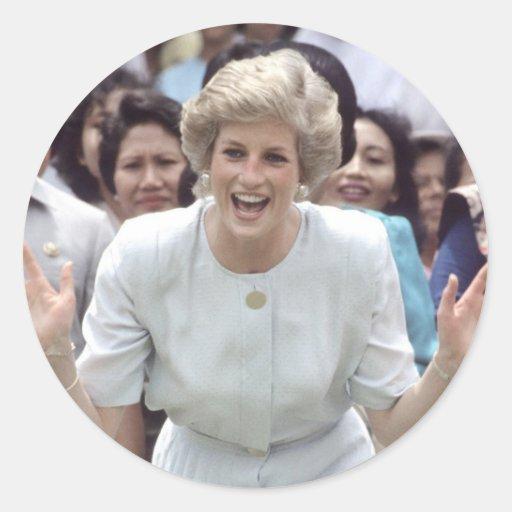 Princess Diana At Last! Round Sticker