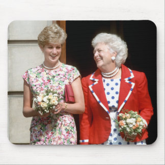 Princess Diana-Barbara Bush Mouse Mats